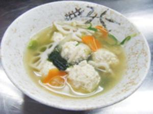 レンコン団子スープ