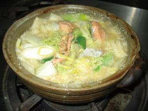 鮭の酒粕みそ鍋
