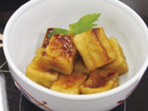 高野豆腐の甘辛揚げ