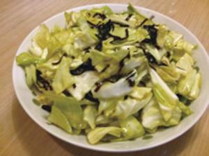 春キャベツの塩昆布サラダ