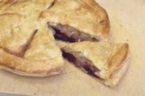 紫芋とりんごのパイ