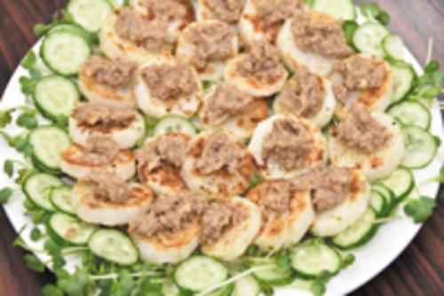くるみ味噌ソースで食べる 長芋のステーキ